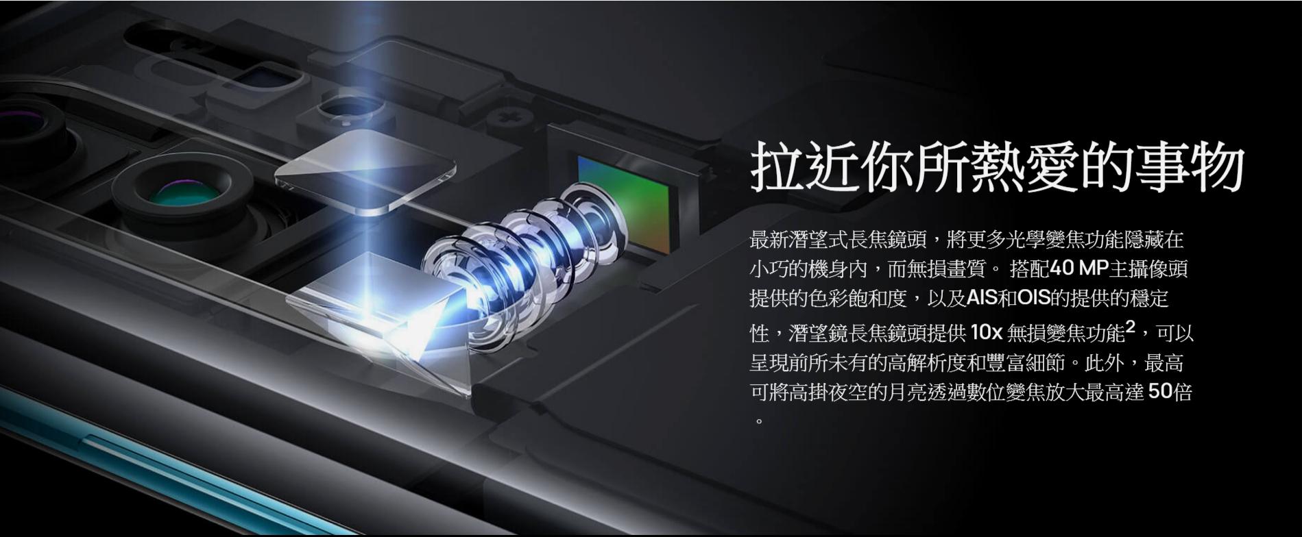 HUAWEI 10倍混合變焦 50倍數位變焦