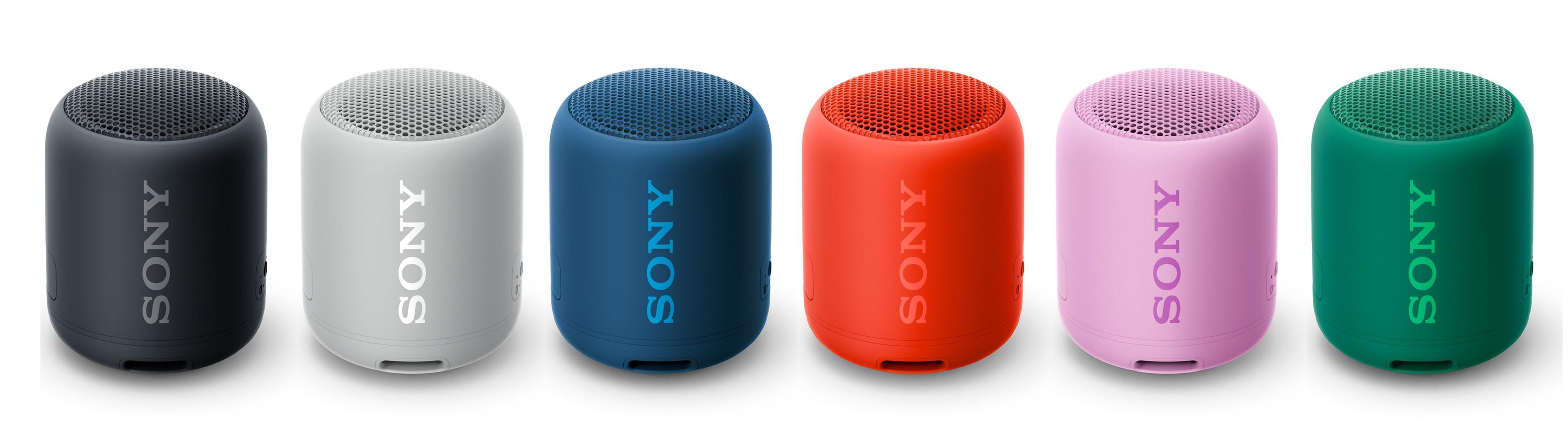 Sony SRS-XB12 共提供6色豐富選擇,隨行釋放EXTRA BASS 音樂能量。