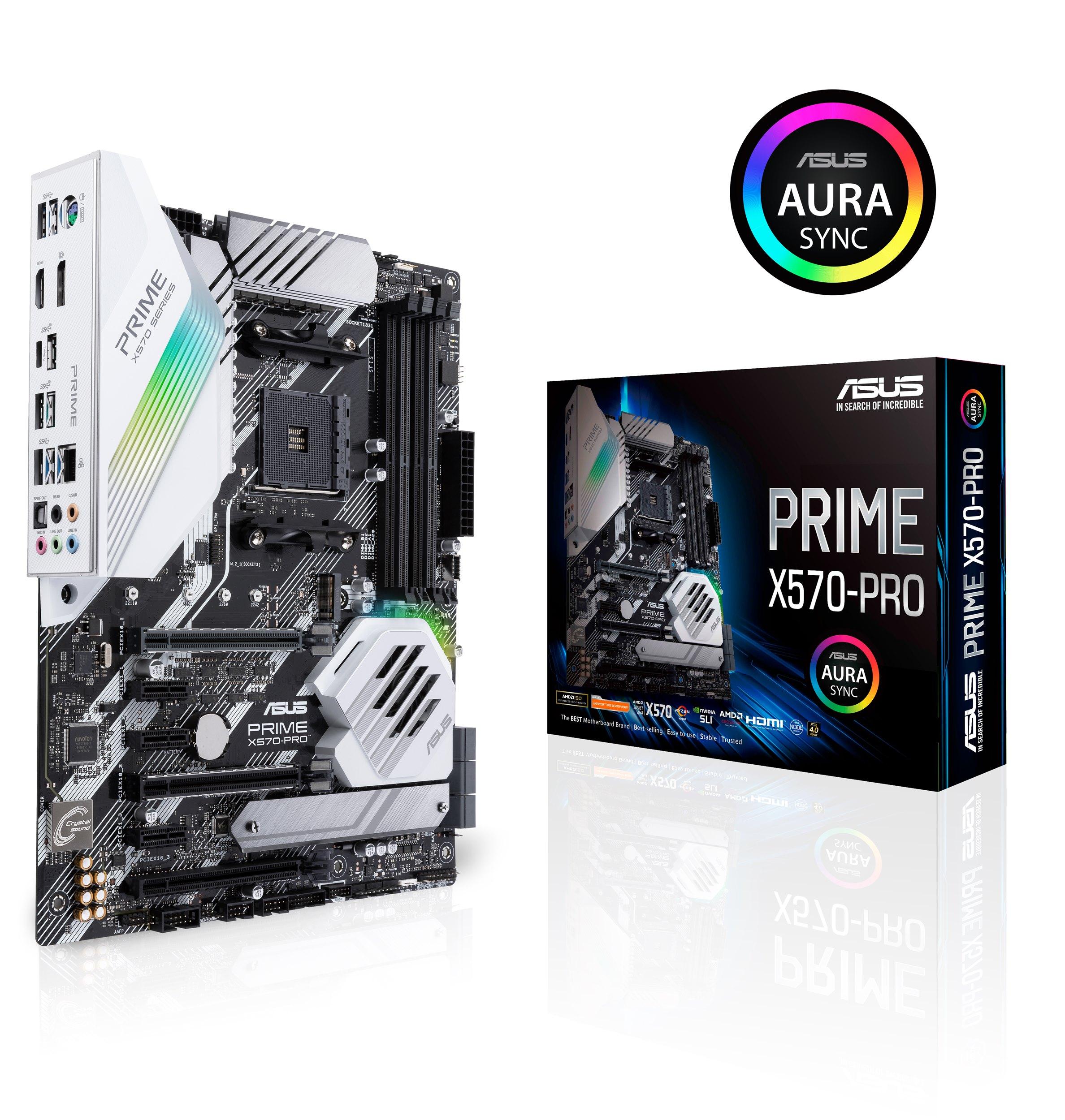 ASUS Prime X570 PRO以低調洗鍊的風格打造別緻外觀,適合偏好極簡風格的入門玩家