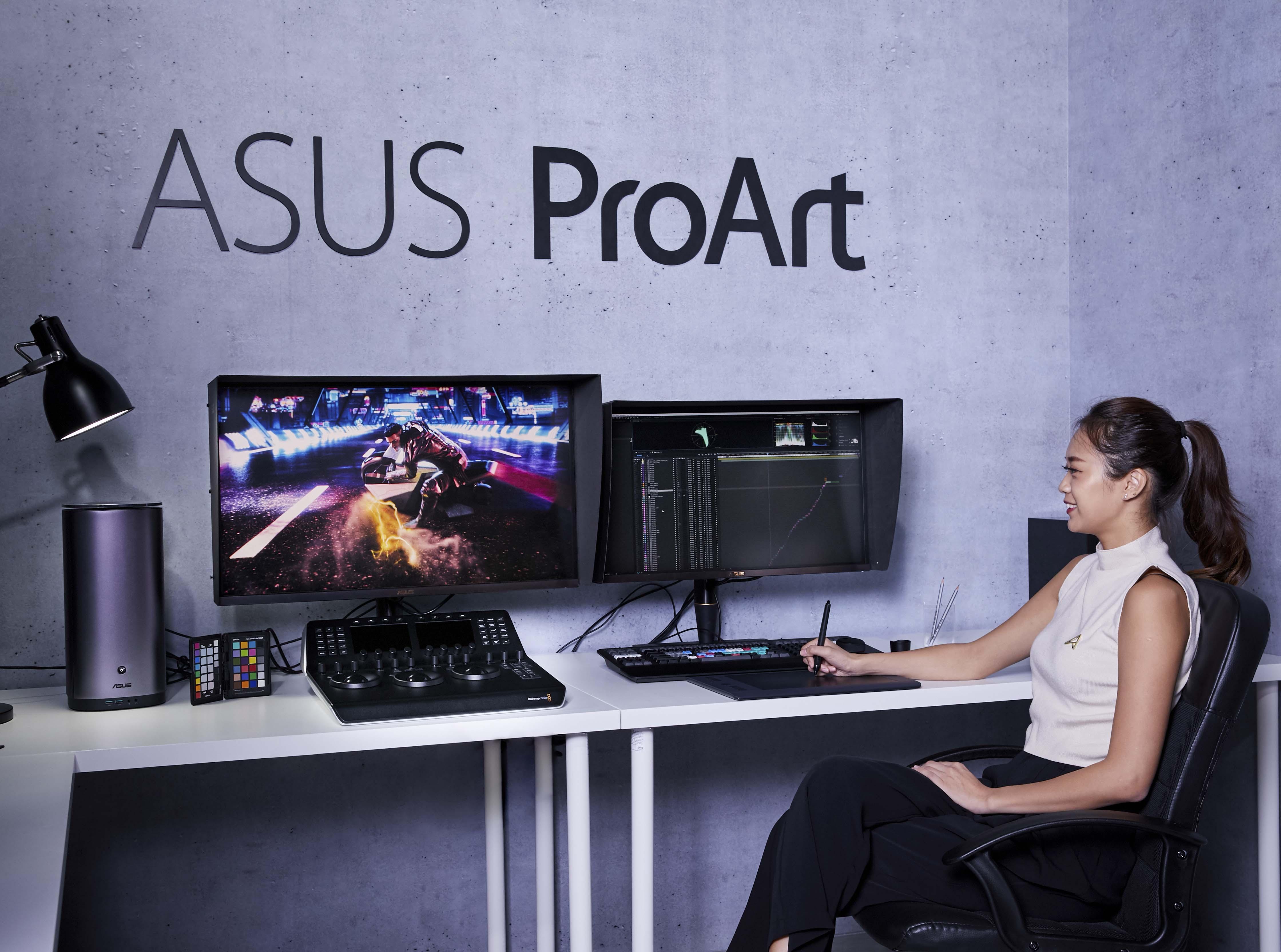 ProArt PA90ProArt PQ22UC可攜式專業螢幕,搭配全球首款採用mini-LED背光的32吋4K HDR螢幕的ProArt PA32UCX,從此輕鬆應對各種工作中所面臨的專業所需。