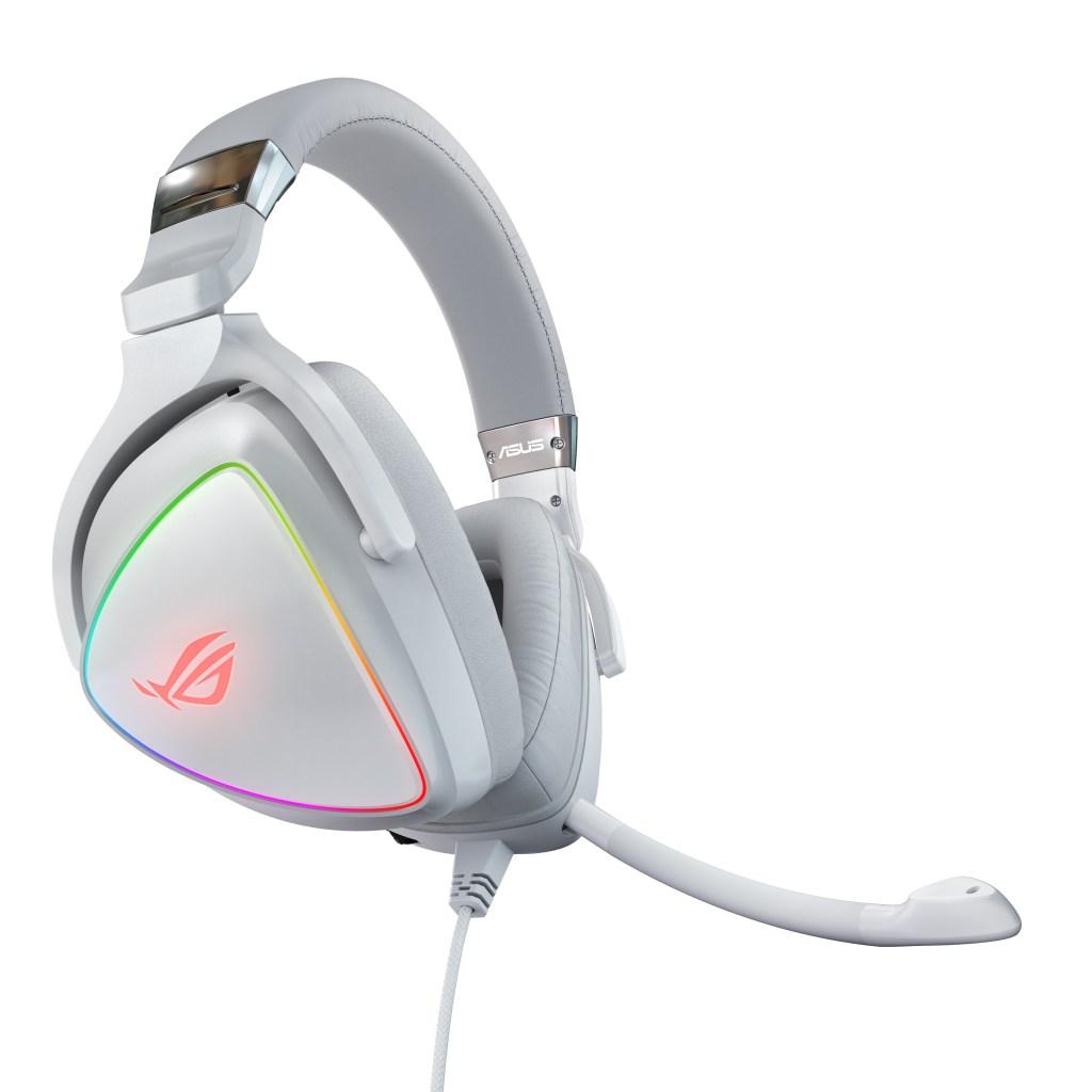 ROG Delta電競耳麥幻白限定款,具備全新風貌的白色外型與卓越音效,是玩家電競耳麥的夢幻逸品首選。