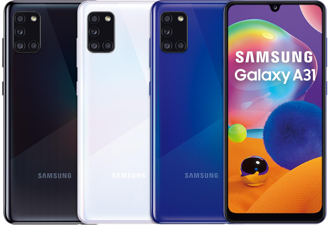 1】Galaxy A31搭載4800萬超高畫素4鏡頭以及5000mAh超強電量