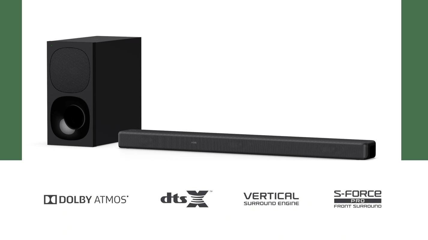 1) HT-G700單件式環繞音響