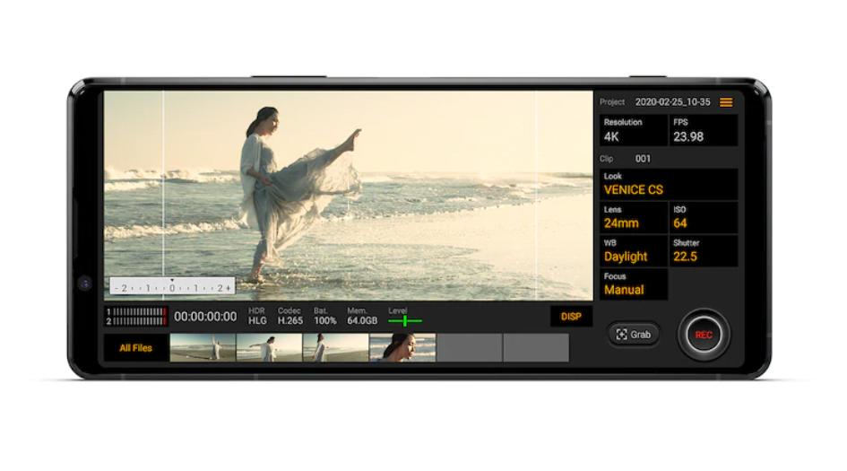 Xperia 1 II內建的Cinema Pro功能再進化!加入獨特智慧風切聲過濾技術,人人都能一秒變大師
