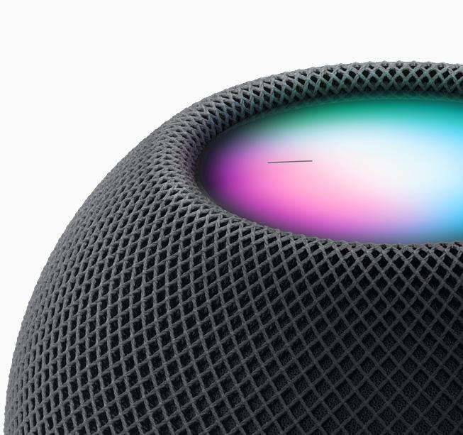 HomePod mini 運用 Siri 強大的智慧完成大小事。