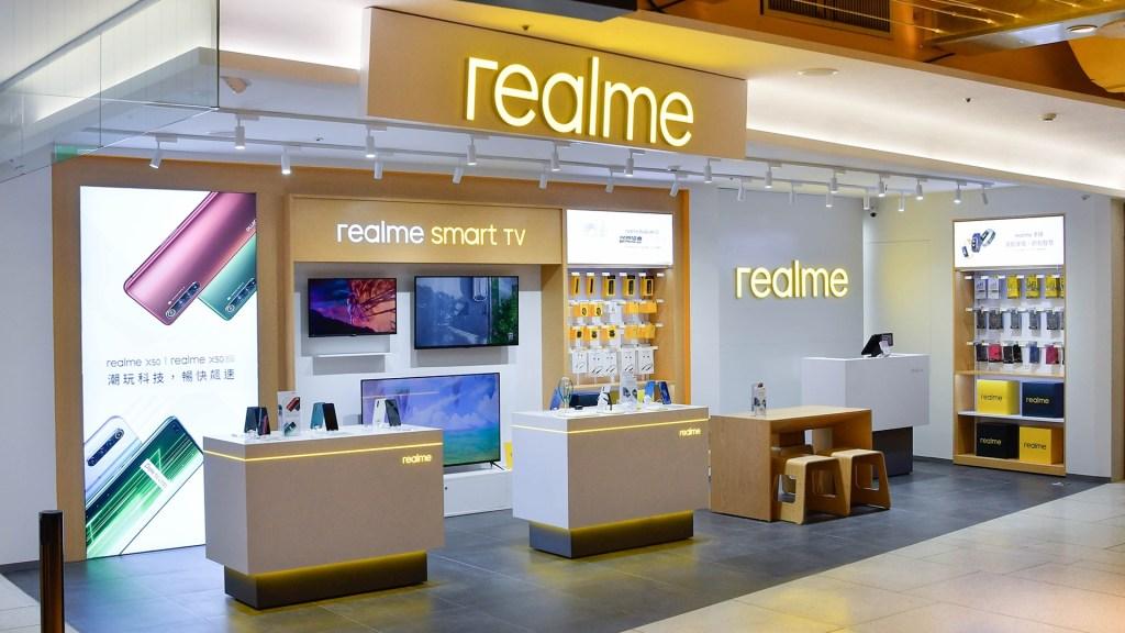 realme三創品牌專櫃驚喜展示尚未於台灣推出的realme智慧連網顯示器,預告即將引進台灣市場。