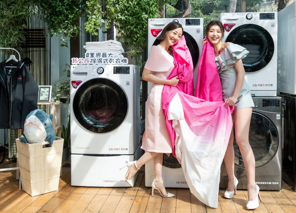 LG 免曬衣乾衣機採用雙迴轉變頻壓縮機與變頻馬達,兩者皆享有十年保固