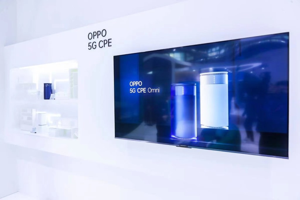 看好5G毫米波的應用,OPPO現場展示5G CPE Omni裝置,期望打造跨場景應用的數位便利生活