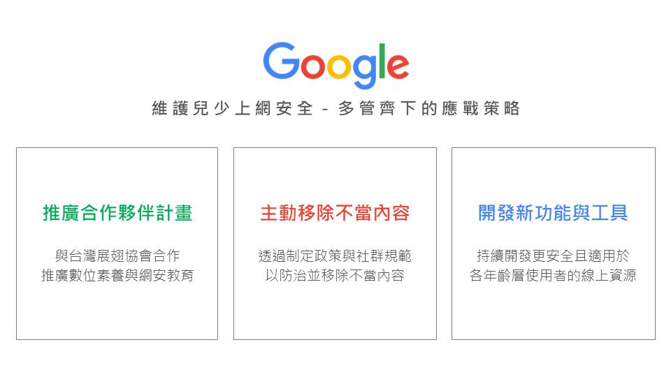 Google Child Online Safety Strategy