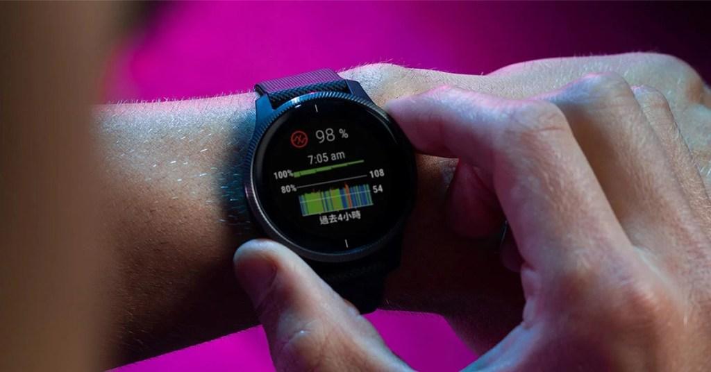 Garmin血氧感測使用業界最受信賴的「Pulse-Ox血氧感測技術」搭配Garmin精細的演算法,估算使用者當下血氧濃度