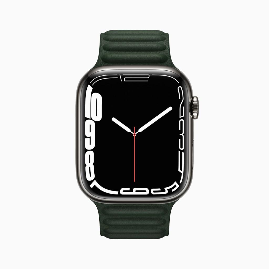全新的「輪廓」錶面將錶盤移至顯示器邊緣,並會隨著一天的時間動態變化,突顯當前時刻。