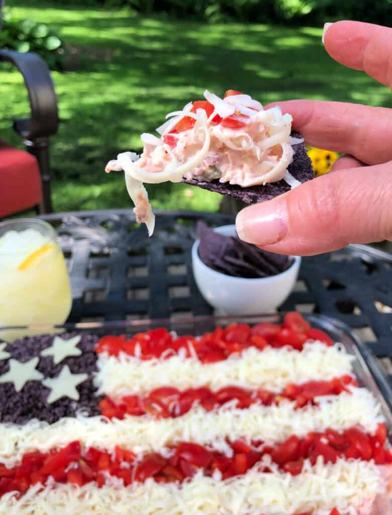 American flag taco dip patriotic for 4th of July