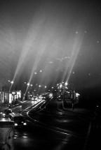 Foto: Straße bei Nacht in Berlin-Pankow