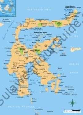 Sulawesi Tour Destination Map