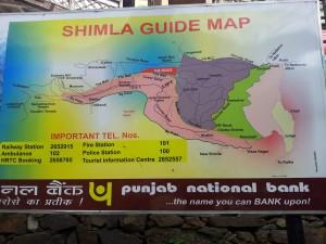 Shimla guide map