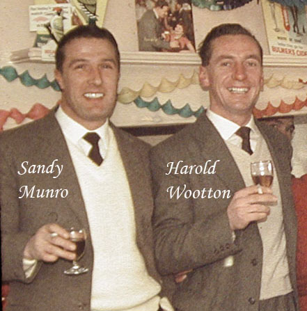 Sandy Munro and Harold Wootton in the Star Inn on Christmas Day 1961