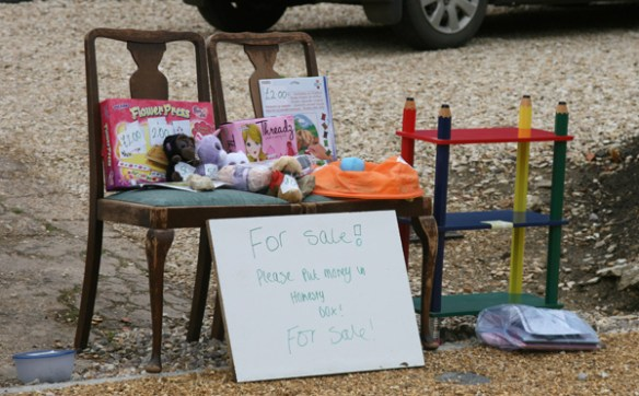 An enterprising youngster anticipates more visitors than usual....