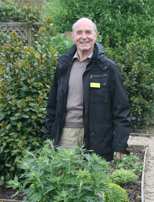 Michael Heaton of the National Gardens Society pays a visit to the herb garden at Sulgrave Manor