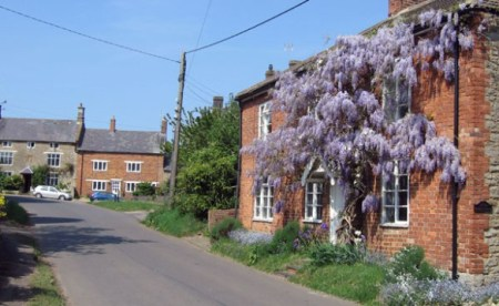 Wisteria Cottage in the Spring