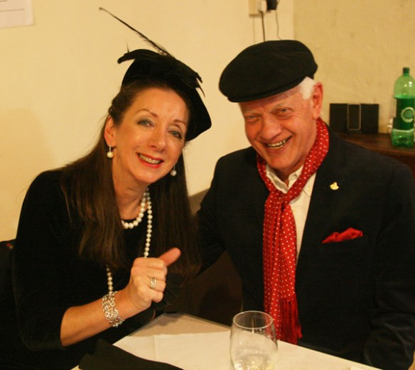 The Duke's son and heir Monty (Hywel L) and his wife Mandy (Sally E) anticipate the contents of the will.....