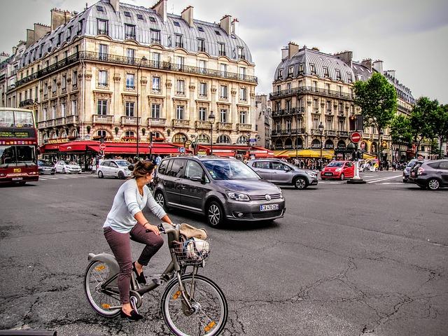 In bici a Parigi