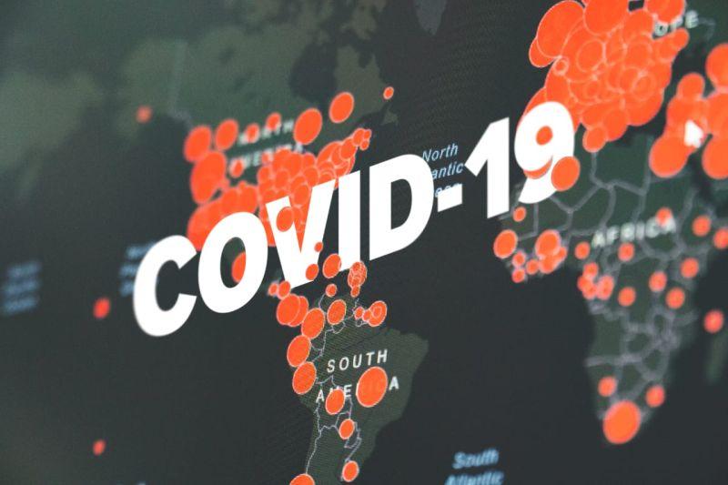 Ilustrasi virus corona atau Covid-19.