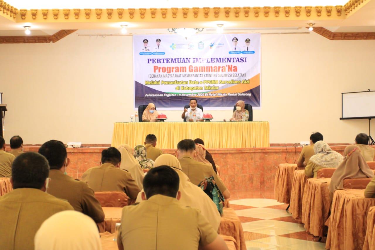 Suasana Pertemuan Implementasi Program Gammara'na, di Hotel Wisata Pantai Galesong, Kabupaten Takalar