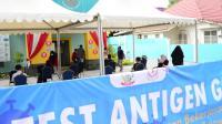 Suasana rapid test antigen gratis di Kantor YKI Sulsel