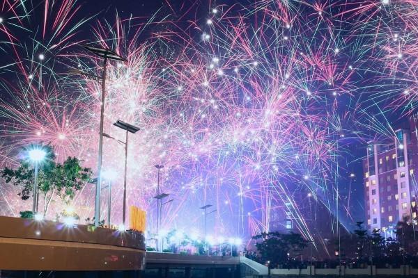 Ilustrasi perayaan tahun baru.