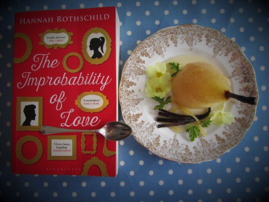 The Improbability Of Love. Hannah Rothschild. Poached Pear. First dates.