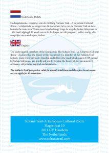 Sultans Trail passport