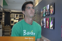 Zak Barry, Banan