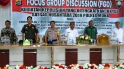 Suasana pelaksanaan Focus Group Discussion (FGD) di Aula Galampano Kantolalo. (Foto: Istimewa)