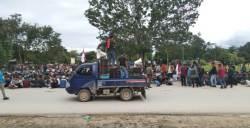 Demo Bela Wawonii Kembali Bergerak, GPMI Sultra Tarik Diri