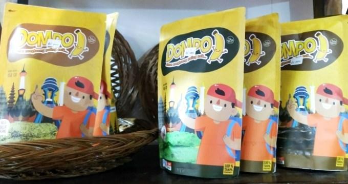 Dompo pisang kemasan terbaru khas Bombana dipamerkan di Expo Sultra. (Foto: Intan Juwita/SULTRAKINI.COM)