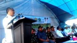 Sambutan Bupati Konawe dalam kunjungan Menteri Pertanian RI, Rabu (29/5/2019). (Foto: Ulul Azmi/SULTRAKINI.COM)
