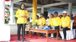 Wakil Bupati Buton, IIs Elianti memberikan sambutan sekaligus menutup Gala Desa Kabupaten Buton, Senin, (25/11/2019) (Foto: Ist)