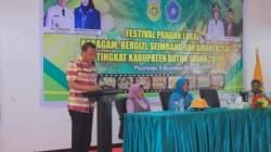 Sekertaris Daerah (Sekda) Kabupaten Buton, La Ode Zilfar Djafar pada acara Festival Pangan Lokal Beragam, Bergizi, Seimbang dan Aman (B2SA) (Foto: Istimewa)