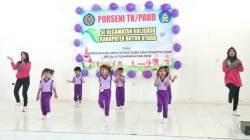 Porseni antarguru pendidikan anak usia dini dan murid se-Kecamatan Kulisusu, Kabupaten Butur, Senin (16/12/2019). (Foto: Ist)