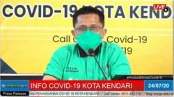 Juru Bicara Satgas Covid-19 Kota Kendari, dr Alghazali Amirullah, (Foto: Screnshot)