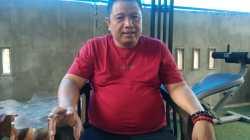 Bupati Muna terpilih hasil Pilkada 2020, LM Rusman Emba, saat memberikan keterangan (Foto:La Niati/SULTRAKINI.COM)