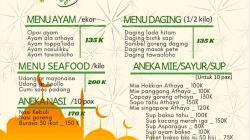 Daftar menu Ied Food Parcel (Foto: Ist)