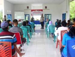 Warga Aere Terima Penyuluhan Bahaya Narkotika dalam Program TMMD Kodim 1412 Kolaka