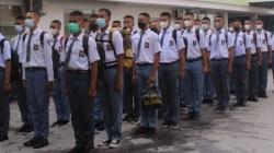 Paskibraka yang akan bertugas di Provinsi Sultra pada HUT 17 Agustus mendatang siap menjalani pemusatan latihan, (Foto: Al Iksan/SULTRAKINI.COM)