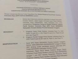 Ketua DPC Gerindra Konsel Berganti, Arsalim Akan Rehat dari Dunia Politik ?