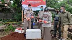 Pemusnahan daging Rusa di halaman Kantor BKSDA Baubau, (Foto: Dok. Balai Karantina Pertanian)
