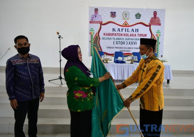 Plt Bupati Koltim Lepas 20 Kafilah Dalam Ajang STQH Tingkat Provinsi