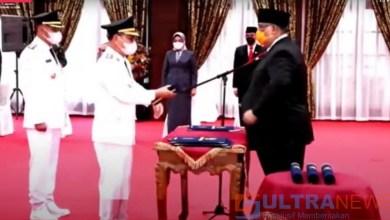 Pasangan SUARA Resmi DiLantik Gubernur Sultra Sebagai Bupati dan Wakil Bupati Konsel
