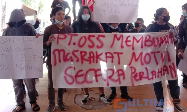 Aliansi Masyarakat Motui, Ingatkan DPRD Provinsi Agar Tidak Bermain Mata dengan PT. OSS
