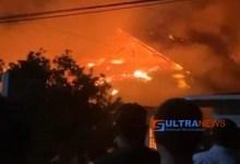 Dua Rumah di Punggaluku Konsel Terbakar, Diduga Korsleting Listrik